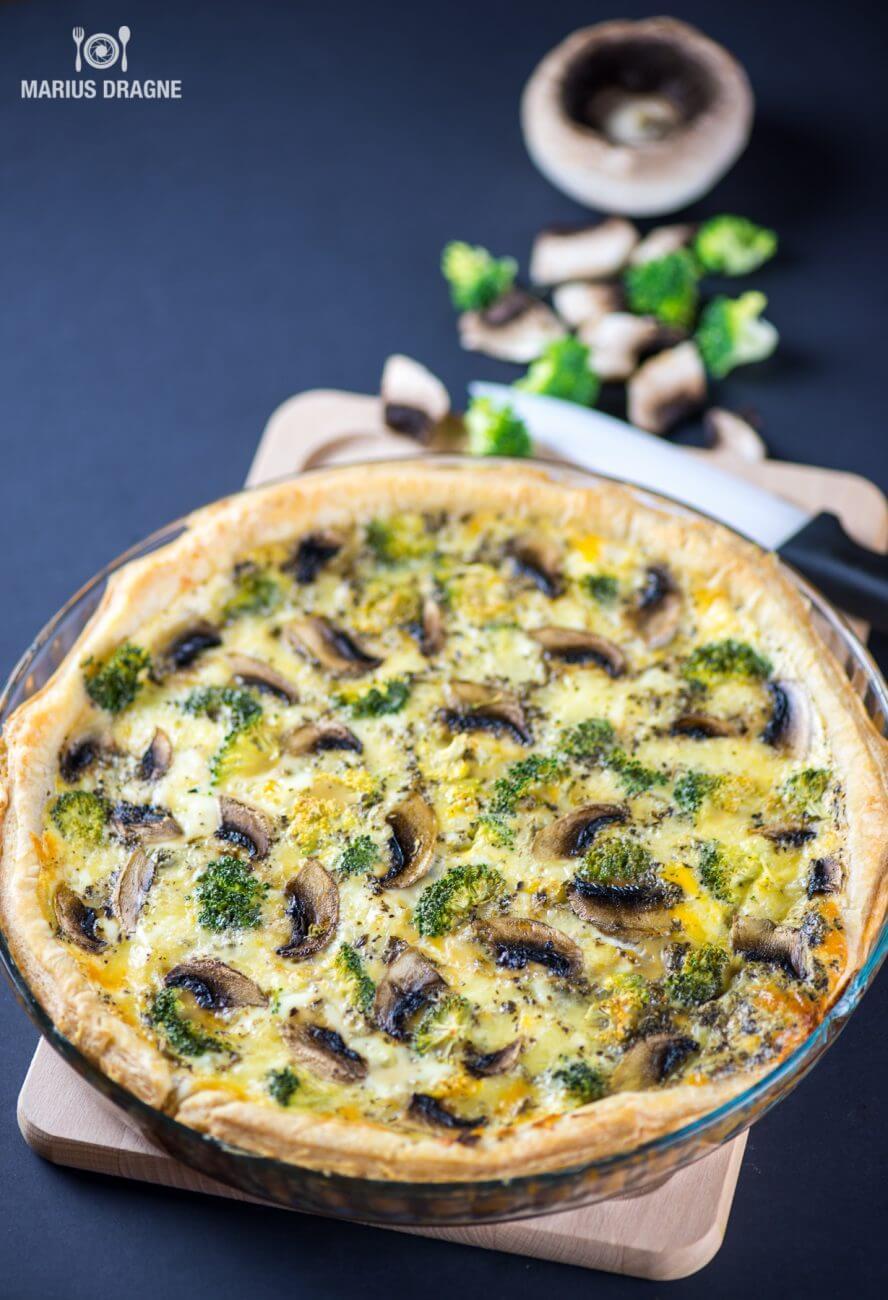Quiche cu ciuperci si broccoli