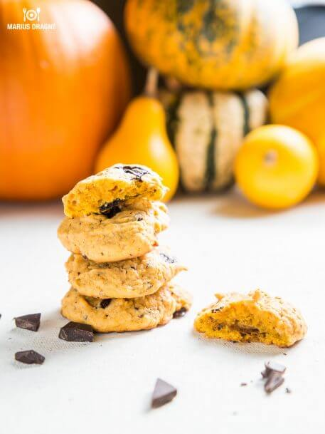 Cookies cu dovleac si ciocolata