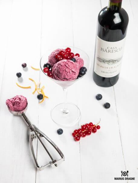 Sorbet de vin rosu