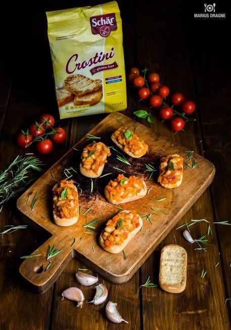 Crostini cu fasole si rozmarin – reteta fara gluten