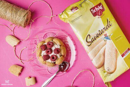 Tort cu piscoturi, zmeura si mascarpone – reteta fara gluten
