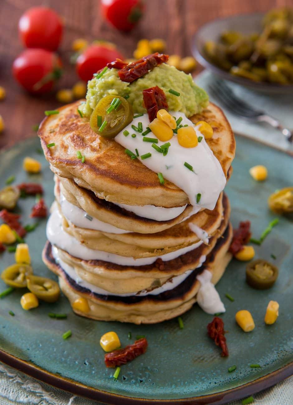 Pancakes sarate cu jalapeno si porumb