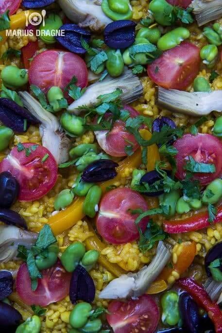 Paella cu legume
