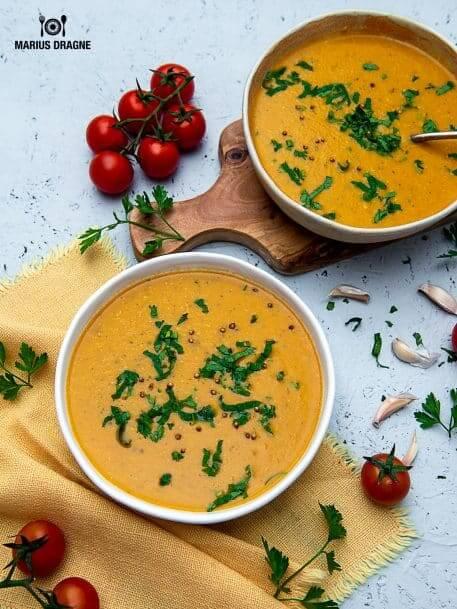 Supa crema de linte in stil marocan