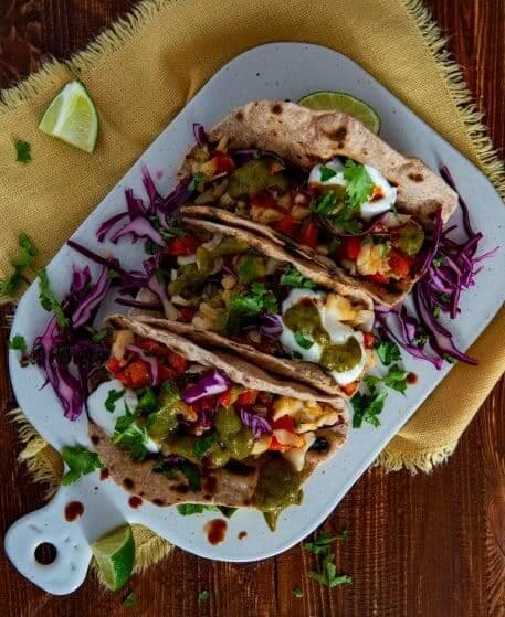 Tacos cu peste si salsa