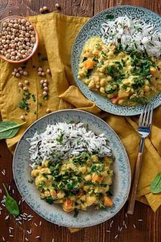 Curry cu naut si cartof dulce