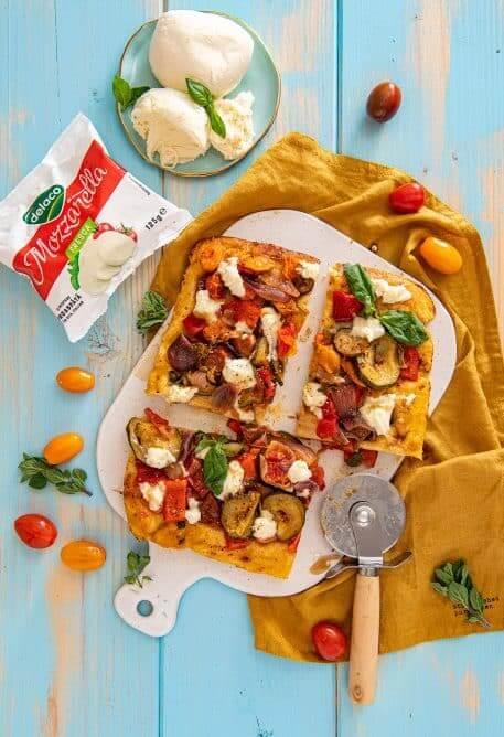 Upside down pizza cu legume coapte (pizza rasturnata)