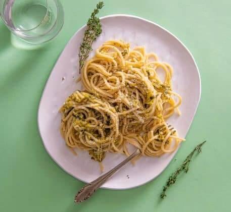 Spaghete cu praz