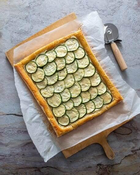 Tarta rapida cu zucchini