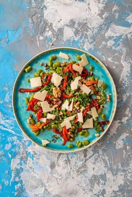 Salata fresh cu fasole fava