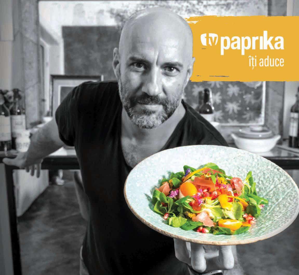 """""""Culoare in Farfurie"""" cu Radu Dumitrescu – un nou show culinar pe TV Paprika"""