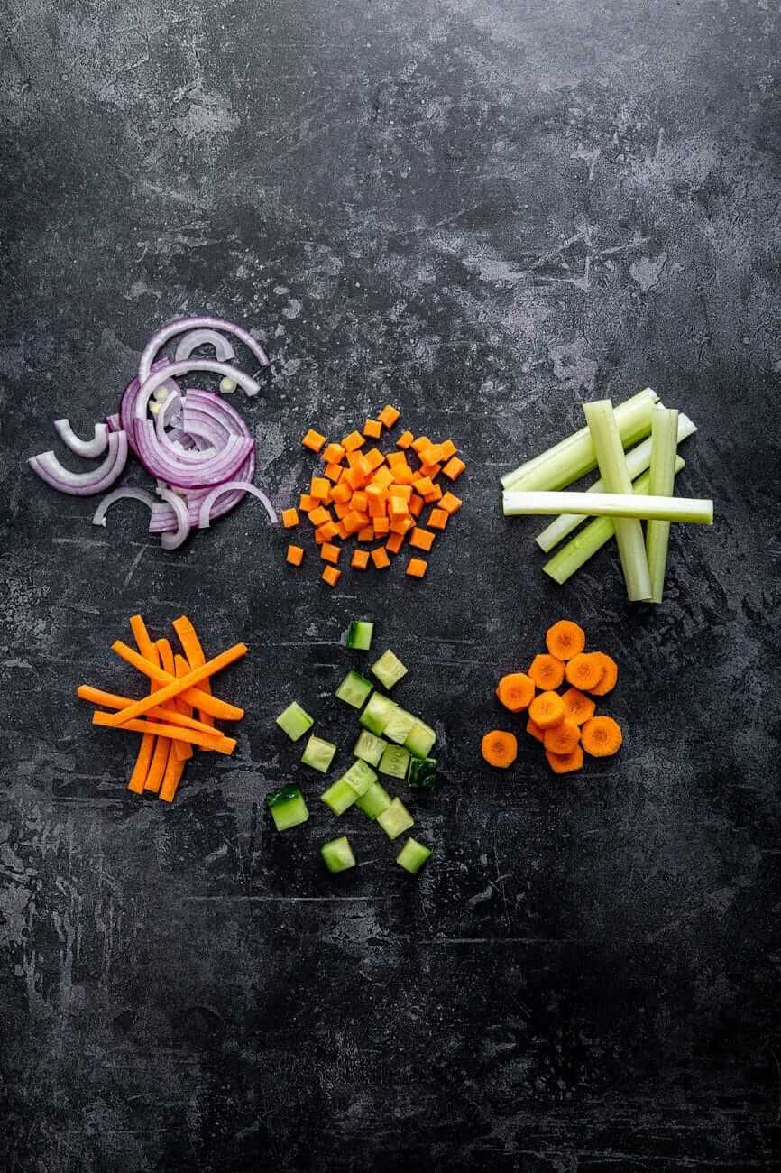 Metode de taiere a legumelor