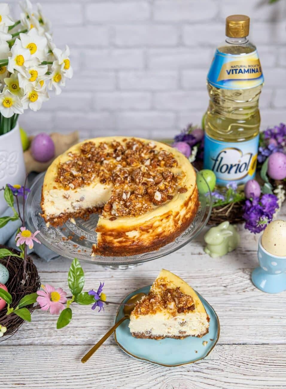 Cheesecake cu migdale si stafide