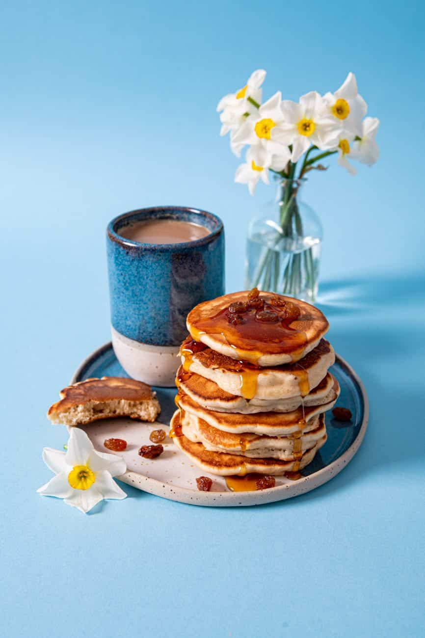 Pancakes cu stafide