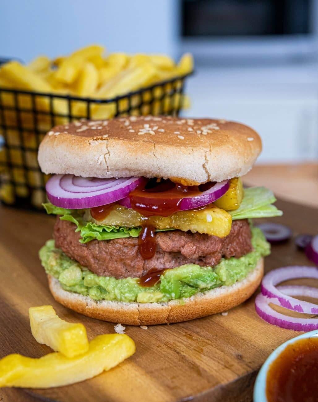 Burger tropical vegan